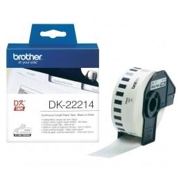 Brother DK-22214, 12mm x 30,48m, Taśma papierowa ciągła