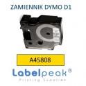 Taśma zamiennik DYMO 45803 19mmx7m czarny nadruk - białe tło