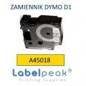 Taśma zamiennik DYMO 45808 19mmx7m czarny nadruk - żółte tło