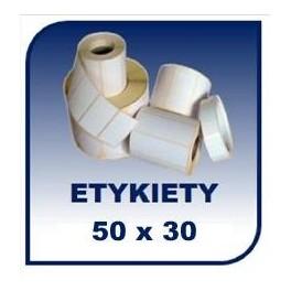 Etykiety termiczne 50x30, 1000 szt. samoprzylepne na rolce