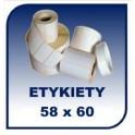 Etykiety termiczne 58x60, 500 szt. samoprzylepne na rolce