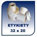 Etykiety termiczne 32x20, 2000 szt. samoprzylepne na rolce