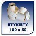 Etykiety termiczne 100x50, 500 szt. samoprzylepne na rolce