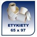 Etykiety termiczne 65x97, 500 szt. samoprzylepne na rolce