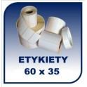 Etykiety termiczne 60x35, 1000 szt. samoprzylepne na rolce