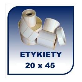 Etykiety na rolce 20x45, 40tys. etykiet