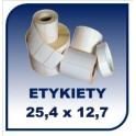 Etykiety na rolce 25,4x12,7 100tys. etykiet