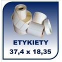 Etykiety na rolce 37,4x18,35 - 60tys. etykiet