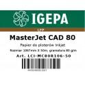 PREMIUM Papier do ploterów 1067x50 MasterJet CAD 80 IGEPA
