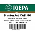 PREMIUM Papier do ploterów 610x50 MasterJet CAD 80 IGEPA