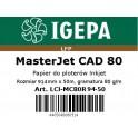 PREMIUM Papier do ploterów 914x50 MasterJet CAD 80 IGEPA